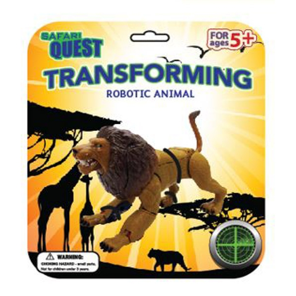SAFARI QUEST TRANSFORMING ANIMAL LION