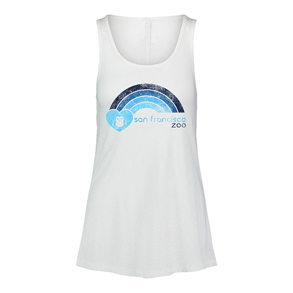 ADULT LADIES TANK PENGUIN/RAINBOW