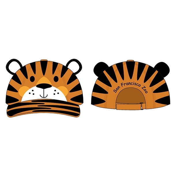 TODDLER CAP TIGER 3D
