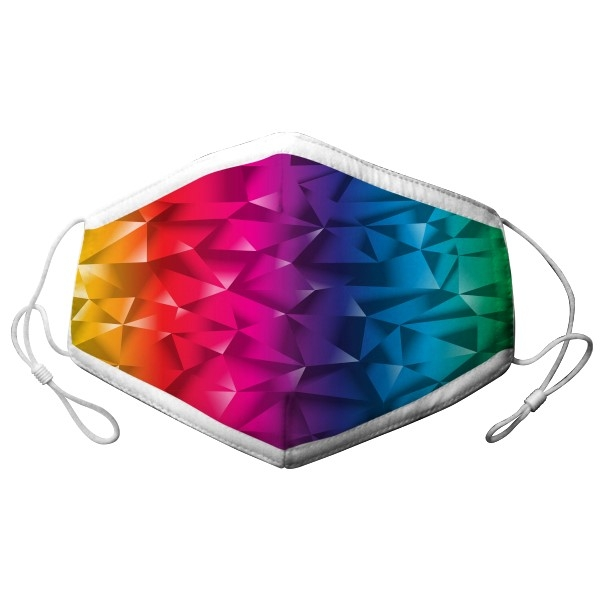 YOUTH ADJUSTABLE RAINBOW PATTERN MASK
