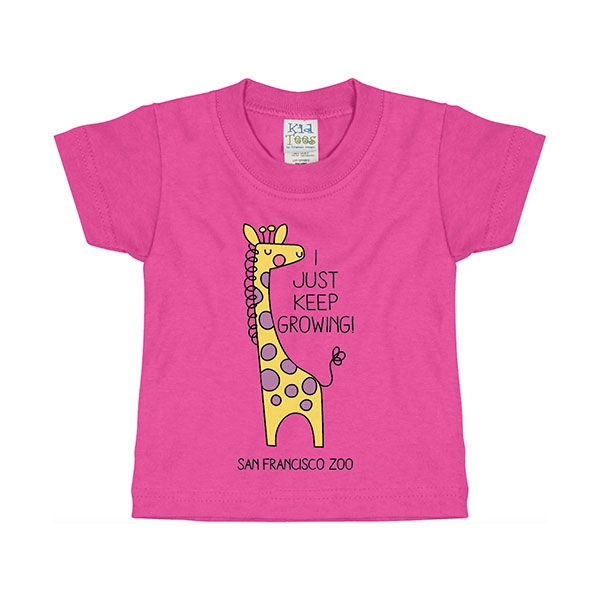 INFANT TEE KEEP GROWING  GIRAFFE
