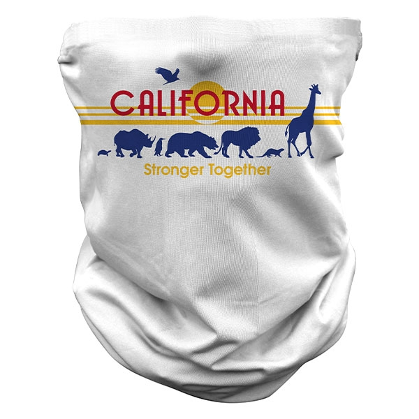 ADULT CALIFORNIA  LICENSE PLATE NECK GAITER