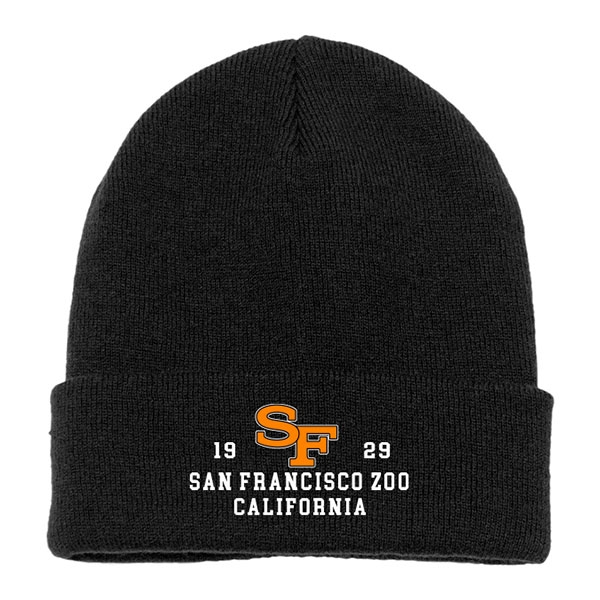ADULT BEANIE SF TIGER BLACK