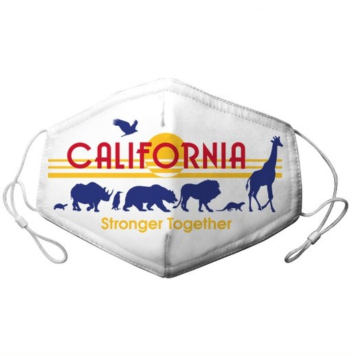 YOUTH ADJUSTABLE CALIFORNIA LICENSE PLATE WITH ZOO PARADE MASK