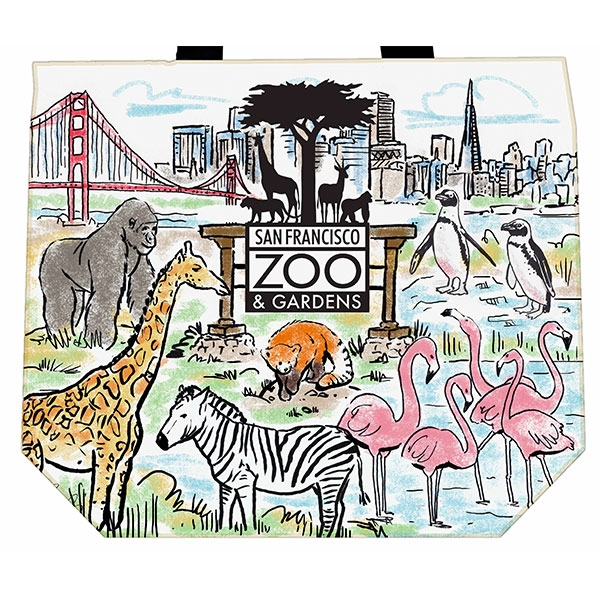 CANVAS TOTE SAN FRANCISCO ZOO