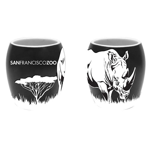 RHINO ETCH SHOT GLASS