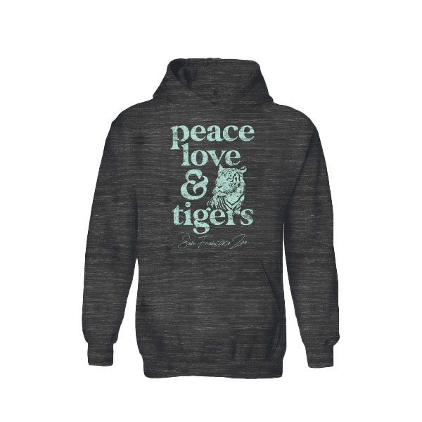 PEACE, LOVE AND TIGER LADIES HOODY