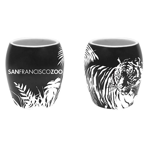TIGER ETCH SHOT GLASS
