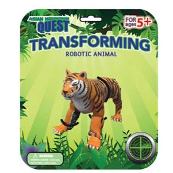 SAFARI QUEST TRANSFORMING ANIMAL TIGER