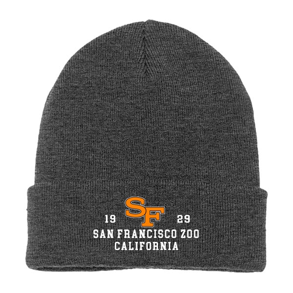 ADULT BEANIE SF TIGER CHARCOAL