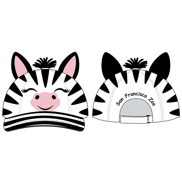 TODDLER CAP ZEBRA 3D