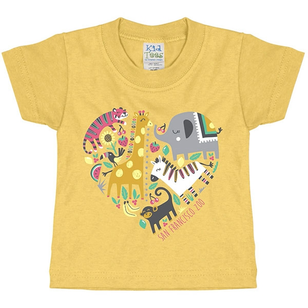 INFANT TEE ZOO HEART COLLAGE