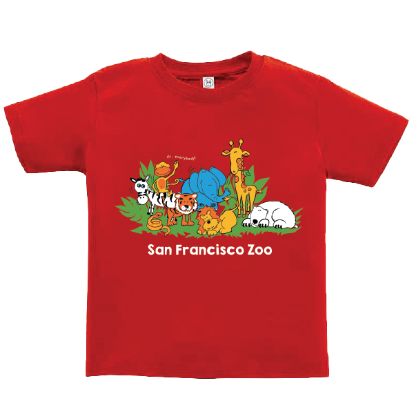 TODDLER TEE MULTI ZOO ANIMAL