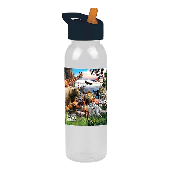SAN FRANCSICO ZOO BOTTLE WITH FLIP STRAW