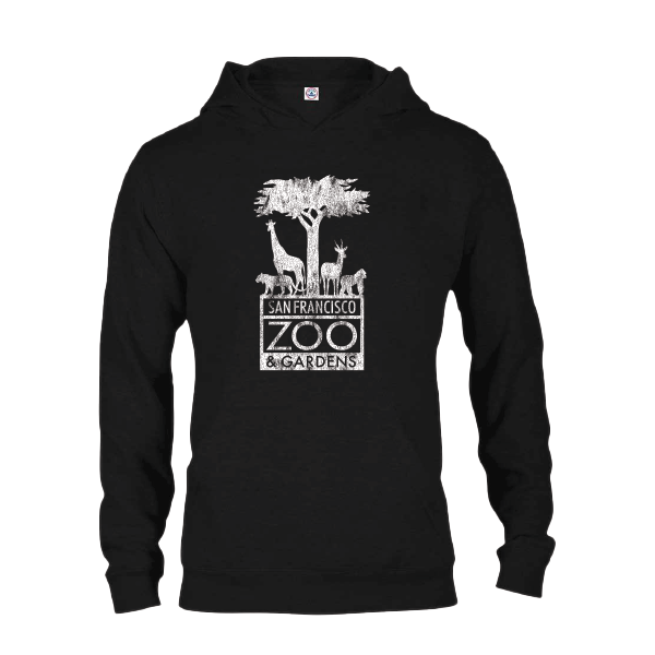 SAN FRANCISCO ZOO LOGO HOODY ADULT